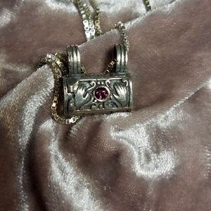 Vintage prayer box necklace